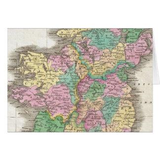 Vintage Map of Ireland (1827) Greeting Card