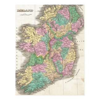 Vintage Map of Ireland (1827) Postcard