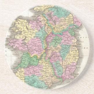 Vintage Map of Ireland (1827) Sandstone Coaster