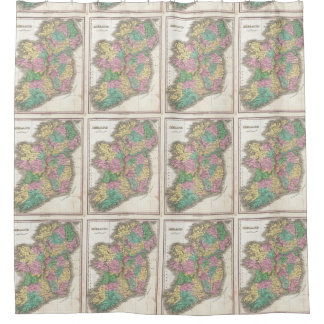 Vintage Map of Ireland (1827) Shower Curtain