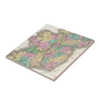 Vintage Map of Ireland (1827) Tile