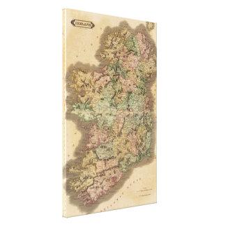 Vintage Map of Ireland (1831) Canvas Print
