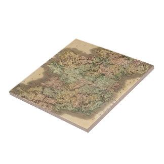 Vintage Map of Ireland (1831) Ceramic Tile