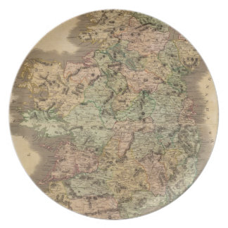 Vintage Map of Ireland (1831) Dinner Plate