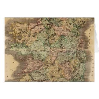 Vintage Map of Ireland (1831) Greeting Card