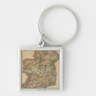Vintage Map of Ireland (1831) Keychain