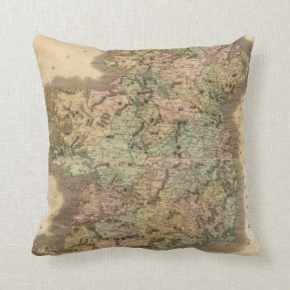 Vintage Map of Ireland (1831) Pillow