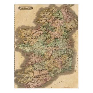 Vintage Map of Ireland (1831) Postcard