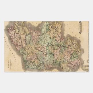 Vintage Map of Ireland (1831) Rectangular Sticker