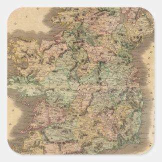 Vintage Map of Ireland (1831) Stickers