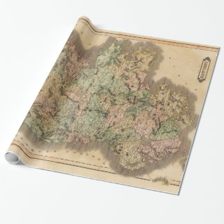 Vintage Map of Ireland (1831) Wrapping Paper