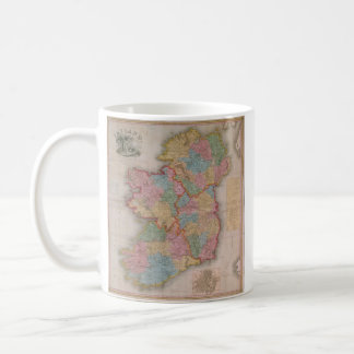 Vintage Map of Ireland (1835) Coffee Mug