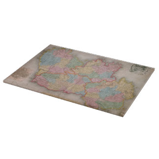 Vintage Map of Ireland (1835) Cutting Boards