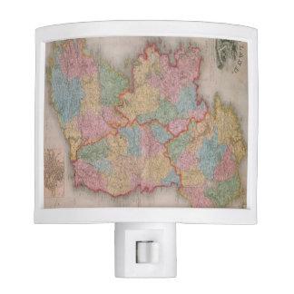 Vintage Map of Ireland (1835) Nite Light