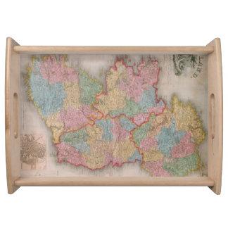 Vintage Map of Ireland (1835) Serving Platters
