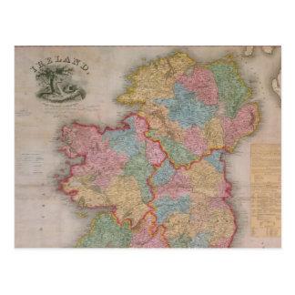 Vintage Map of Ireland (1835) Postcard