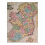 Vintage Map of Ireland (1835) Postcards