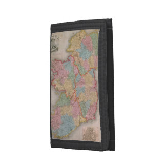 Vintage Map of Ireland (1835) Tri-fold Wallet
