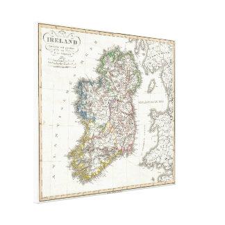 Vintage Map of Ireland (1841) Canvas Print