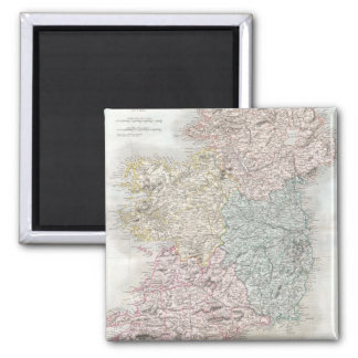 Vintage Map of Ireland (1850) 2 Inch Square Magnet