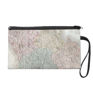 Vintage Map of Ireland (1850) Wristlet Clutches