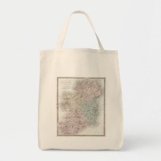Vintage Map of Ireland (1850) Bags