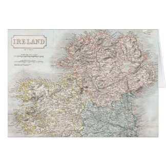 Vintage Map of Ireland (1850) Card