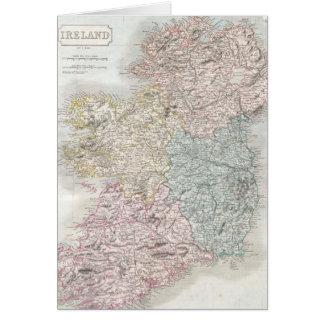 Vintage Map of Ireland (1850) Greeting Card