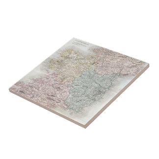 Vintage Map of Ireland (1850) Ceramic Tile