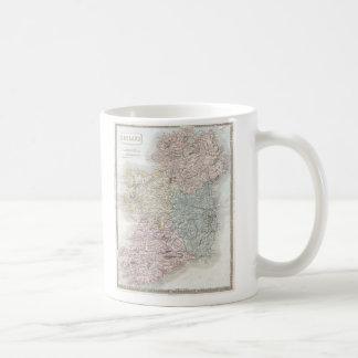 Vintage Map of Ireland (1850) Coffee Mug