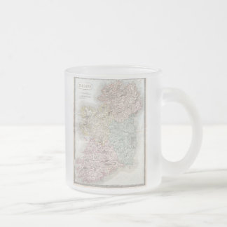 Vintage Map of Ireland (1850) Frosted Glass Coffee Mug
