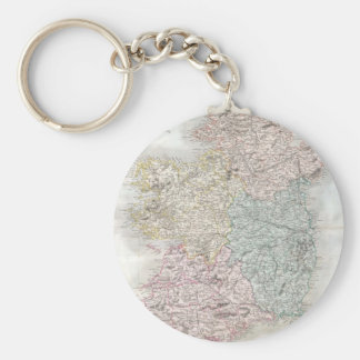 Vintage Map of Ireland (1850) Keychain