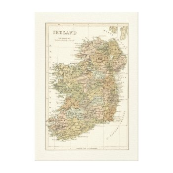 Vintage Map Of Ireland 1862 Canvas by DigitalDreambuilder at Zazzle