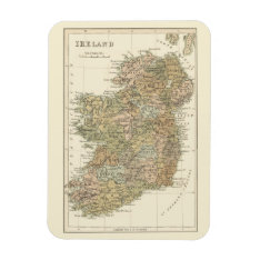 Vintage Map Of Ireland 1862 Flexi-magnet Magnet at Zazzle