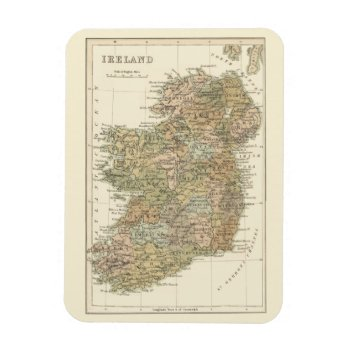 Vintage Map Of Ireland 1862 Flexi-magnet Magnet by DigitalDreambuilder at Zazzle
