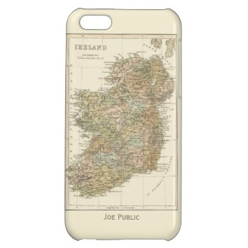 Vintage Map Of Ireland 1862 Iphone 5c Case by DigitalDreambuilder at Zazzle