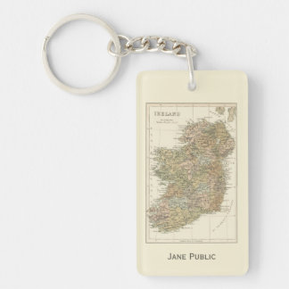 Vintage Map of Ireland 1862 Keychain
