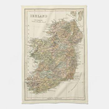 Vintage Map Of Ireland 1862 Kitchen Tea Towel by DigitalDreambuilder at Zazzle