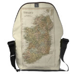 Vintage Map Of Ireland 1862 Large Courier Bag at Zazzle