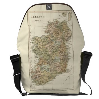 Vintage Map Of Ireland 1862 Large Courier Bag by DigitalDreambuilder at Zazzle