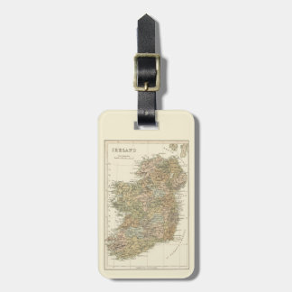 Vintage Map of Ireland 1862 Luggage Tag