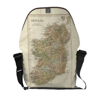 Vintage Map of Ireland 1862 Medium Courier Bags