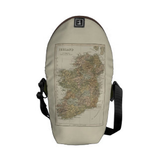 Vintage Map of Ireland 1862 Mini Courier Bags