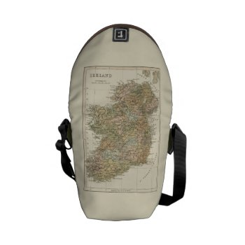 Vintage Map Of Ireland 1862 Mini Messenger Bag by DigitalDreambuilder at Zazzle