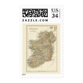 Vintage Map Of Ireland 1862 Postage by DigitalDreambuilder at Zazzle