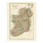 Vintage Map Of Ireland 1862 Postcard at Zazzle