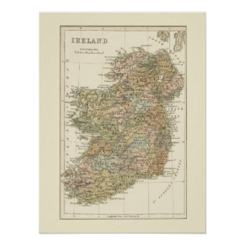 Vintage Map Of Ireland 1862 Poster by DigitalDreambuilder at Zazzle