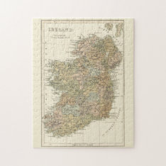 Vintage Map of Ireland 1862 Puzzle at Zazzle