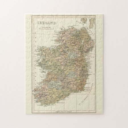 Vintage Map Of Ireland 1862 Puzzle