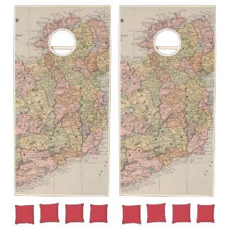 Vintage Map of Ireland (1883) Cornhole Set